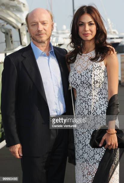 Director Paul Haggis and Moran Atias attend the Fair Game Cocktail Party hosted by Giorgio Armani held aboard his boat 'Main' during the 63rd Annual...