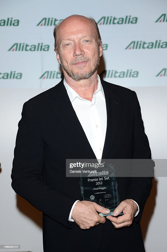 Director <a gi-track='captionPersonalityLinkClicked' href=/galleries/search?phrase=Paul+Haggis&family=editorial&specificpeople=213967 ng-click='$event.stopPropagation()'>Paul Haggis</a> attends the Jet Set Party Alitalia at Residenza di Ripetta on November 10, 2012 in Rome, Italy.