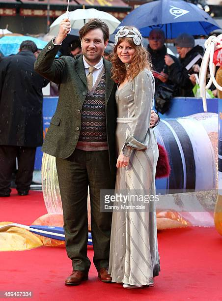 Director Paul King and friend attends the World Premiere of 'Paddington' at Odeon Leicester Square on November 23 2014 in London England