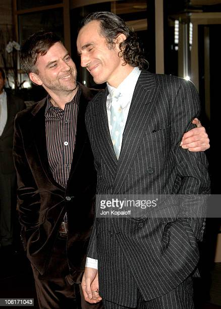 Director Paul Thomas Anderson and actor Daniel DayLewis arrive to The 33rd Annual Los Angeles Film Critics Awards at the InterContinental Hotel on...