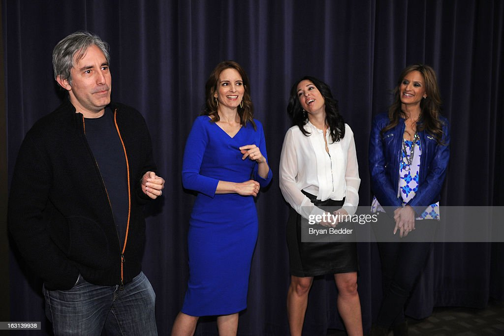 Director Paul Weitz, actress Tina Fey, Melissa Gerstein and Denise Albert attend the Moms and MARTINI celebrate Tina Fey and release of her new film, 'Admission' at Disney Screening Room on March 5, 2013 in New York City.