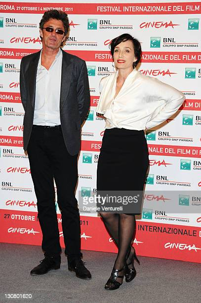 Director Pawel Pawlikowsk and actress Kristin Scott Thomas attend ''The Woman In The Fifth' Photocall during the 6th International Rome Film Festival...
