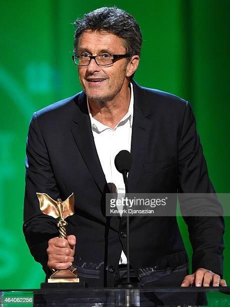 Director Pawel Pawlikowski accepts Best International Film for 'Ida' onstage during the 2015 Film Independent Spirit Awards at Santa Monica Beach on...