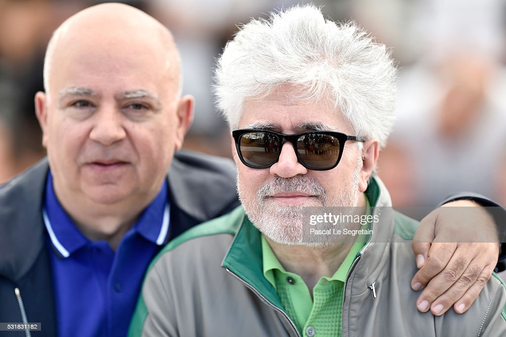Director Pedro Almodovar and producer Agustin Almodovar attend the 'Julieta' photocall during the 69th annual Cannes Film Festival at the Palais des...
