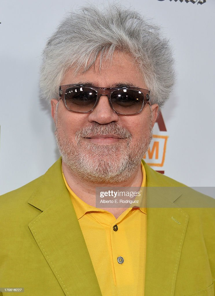 Director Pedro Almodovar arrives at the 2013 Los Angeles Film Festival Opening Night Gala Premiere of 'I'm So Excited' at Regal Cinemas LA Live on...