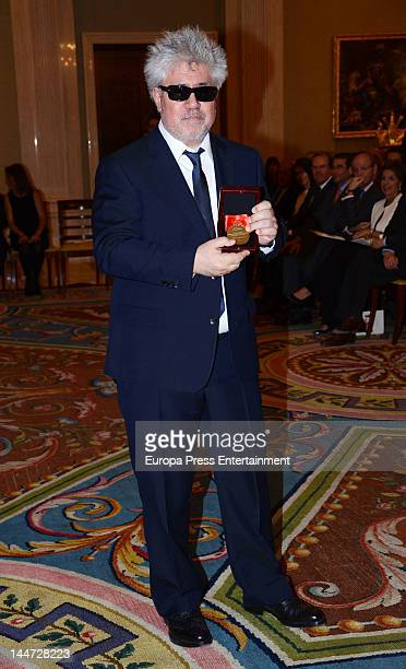 Director Pedro Almodovar attends 'Fine Arts Golden Medals' by Kennedy Center at Zarzuela Palace on May 17 2012 in Madrid Spain