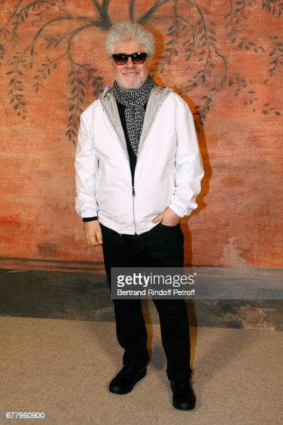 Director Pedro Almodovar attends the Chanel Cruise 2017/2018 Collection Show at Grand Palais on May 3 2017 in Paris France