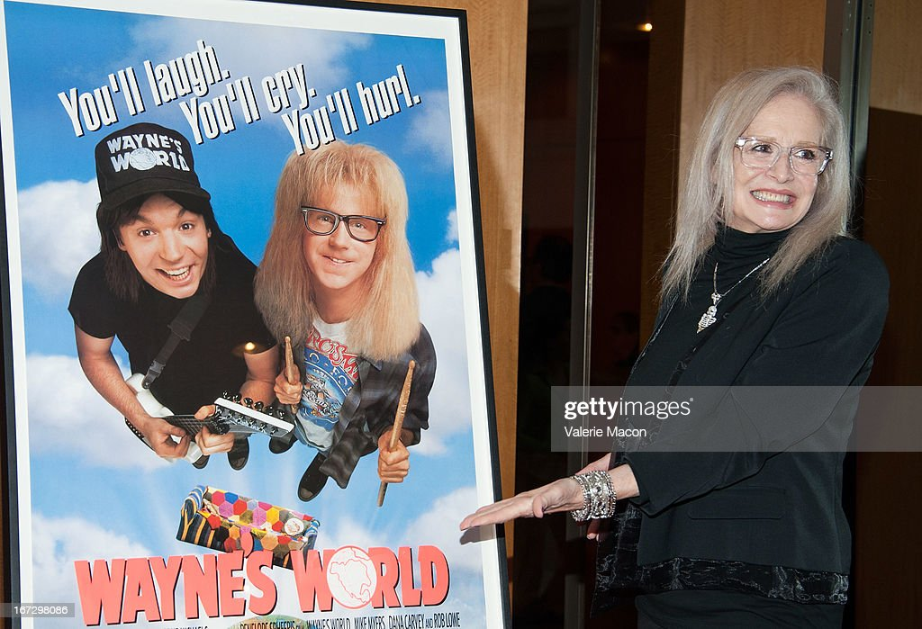 Director <a gi-track='captionPersonalityLinkClicked' href=/galleries/search?phrase=Penelope+Spheeris&family=editorial&specificpeople=796000 ng-click='$event.stopPropagation()'>Penelope Spheeris</a> attends Academy Of Motion Picture Arts And Sciences Hosts A 'Wayne's World' Reunion at AMPAS Samuel Goldwyn Theater on April 23, 2013 in Beverly Hills, California.