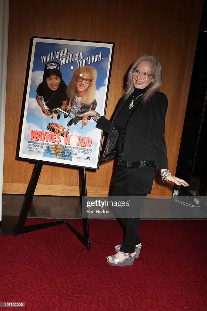 Director <a gi-track='captionPersonalityLinkClicked' href=/galleries/search?phrase=Penelope+Spheeris&family=editorial&specificpeople=796000 ng-click='$event.stopPropagation()'>Penelope Spheeris</a> attends the Academy Of Motion Picture Arts And Sciences Hosts A 'Wayne's World' Reunion at AMPAS Samuel Goldwyn Theater on April 23, 2013 in Beverly Hills, California.