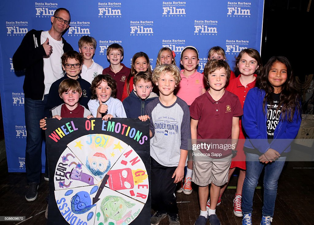 Director <a gi-track='captionPersonalityLinkClicked' href=/galleries/search?phrase=Pete+Docter&family=editorial&specificpeople=3014517 ng-click='$event.stopPropagation()'>Pete Docter</a> attends Mike's Field Trip to the Movies at the Arlington Theater at the 31st Santa Barbara International Film Festival on February 5, 2016 in Santa Barbara, California.