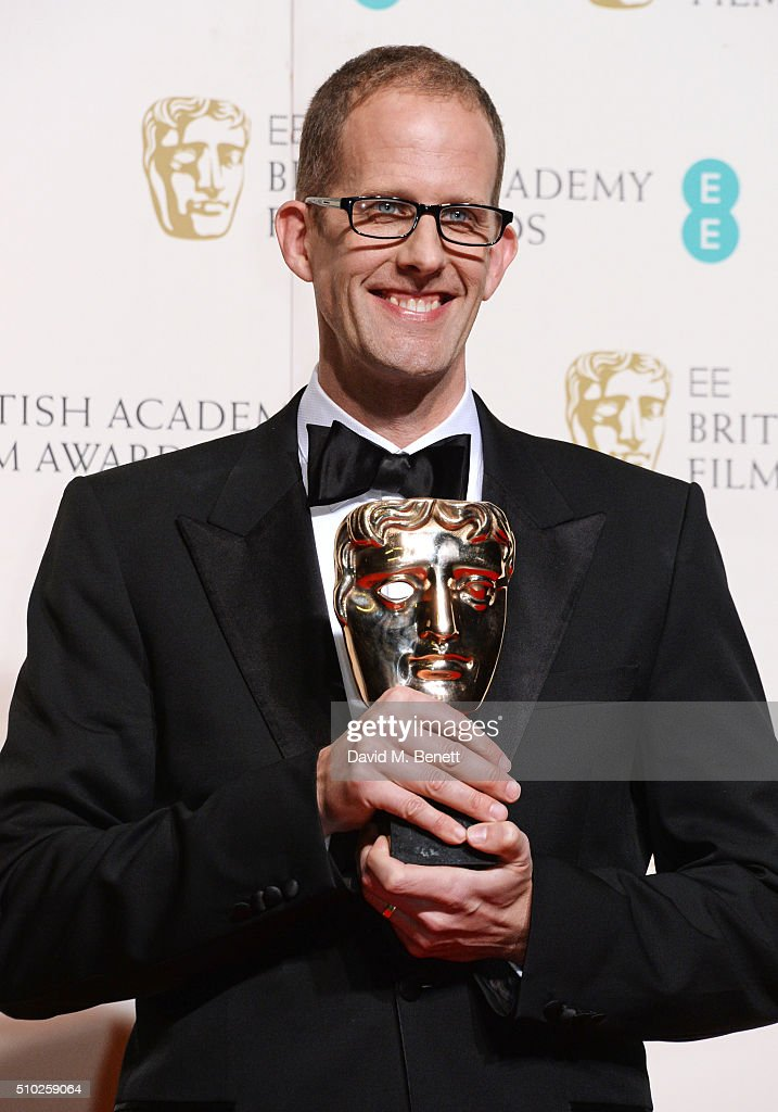 Director <a gi-track='captionPersonalityLinkClicked' href=/galleries/search?phrase=Pete+Docter&family=editorial&specificpeople=3014517 ng-click='$event.stopPropagation()'>Pete Docter</a>, winner of the Animated Film award for 'Inside Out', poses in the winners room at the EE British Academy Film Awards at The Royal Opera House on February 14, 2016 in London, England.