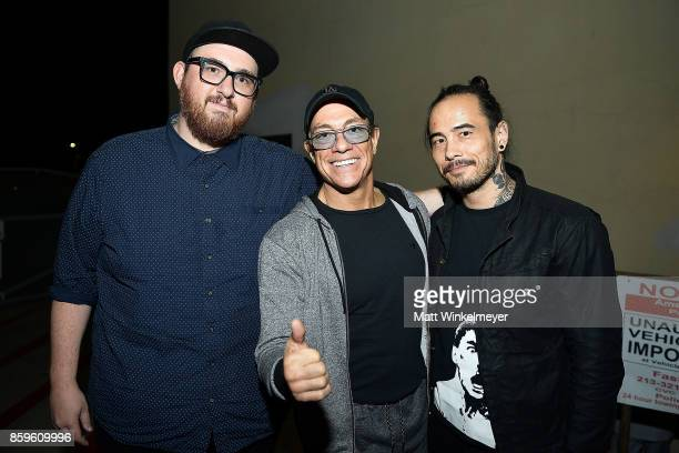 Director Peter Atencio actor JeanClaude Van Damme and creator Dave Callaham attend the Beyond Fest screening and Cast/Creator panel of Amazon Prime...