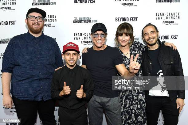 Director Peter Atencio actors Moises Arias JeanClaude Van Damme Kat Foster and creator Dave Callaham attend the Beyond Fest screening and...