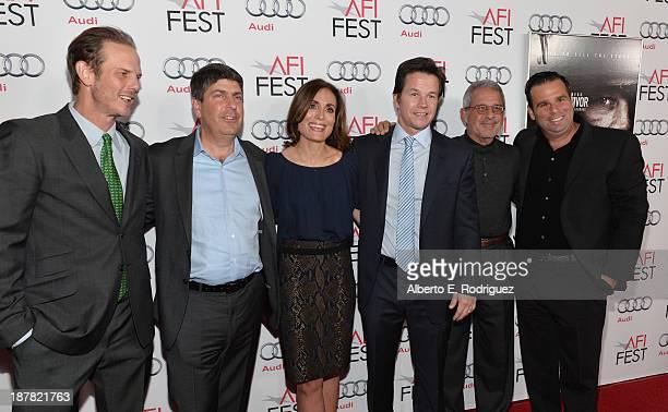 Director Peter Berg Chairman of Universal Filmed Entertainment Jeff Shell producer Sarah Aubrey actor Mark Wahlberg Ron Meyer ViceChairman...