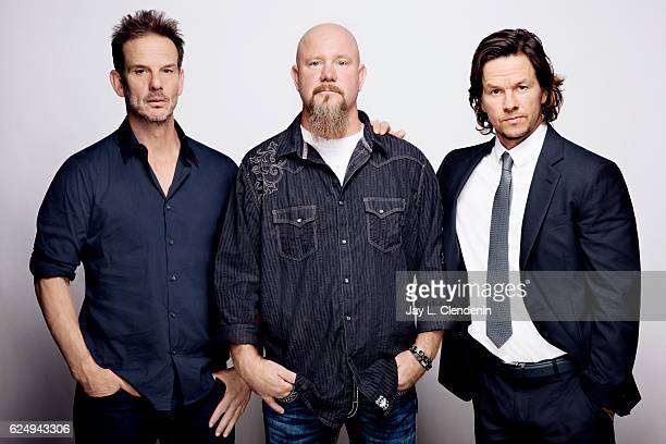 Director Peter Berg Mike Williams and actor Mark Whalberg from the film Deep Water Horizon pose for a portraits at the Toronto International Film...
