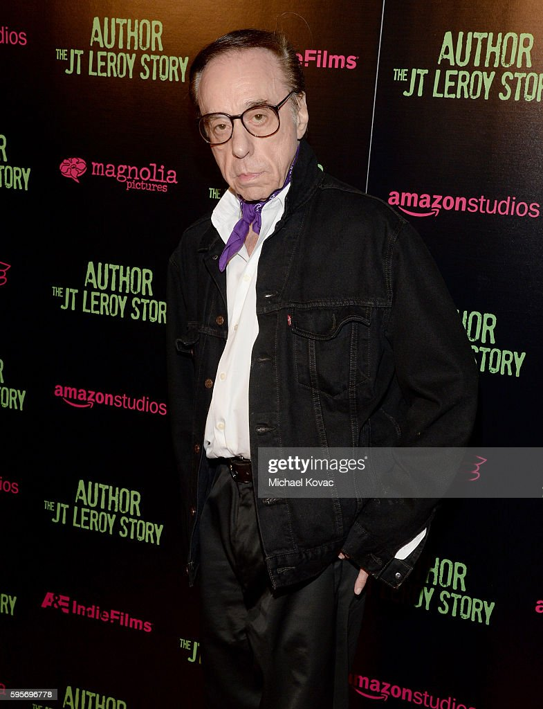 Director Peter Bogdanovich attends the Los Angeles Premiere of 'Author The JT Leroy Story' at NeueHouse Hollywood on August 25 2016 in Los Angeles...