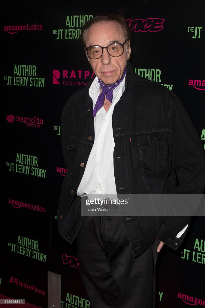 Director Peter Bogdanovich attends the premiere of Amazon Studios' 'Author The JT Leroy Story' at NeueHouse Hollywood on August 25 2016 in Los...