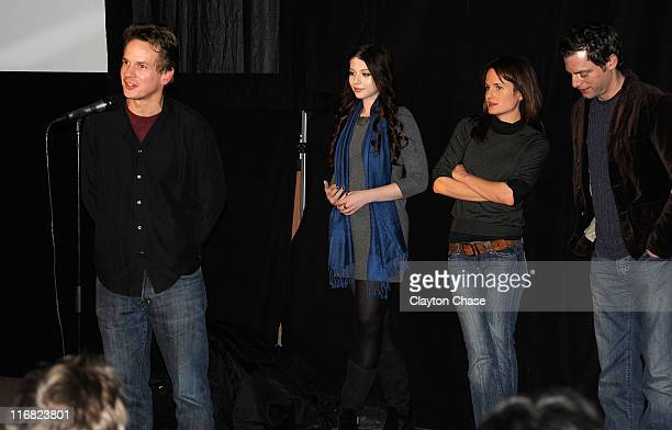 Director Peter Callahan actress Michelle Trachtenberg actress Elizabeth Reaser and actor Justin Kirk attend the premiere of 'Against the Current'...