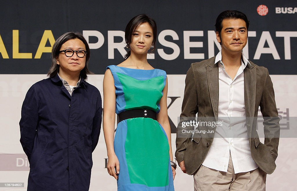 Director Peter Chan, actress <a gi-track='captionPersonalityLinkClicked' href=/galleries/search?phrase=Tang+Wei&family=editorial&specificpeople=4329520 ng-click='$event.stopPropagation()'>Tang Wei</a> and actor Takeshi Kanashiro attend at the Gala Presentation 'Wu Xia press conference at Shinsegae Centum city during the 16th Busan International Film Festival (BIFF) on October 9, 2011 in Busan, South Korea. The biggest film festival in Asia showcases 307 films from 70 countries and runs from October 6-14.