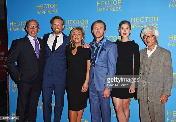 Director Peter Chelsom Barry Atsma TracyAnn Oberman Simon Pegg Rosamund Pike and Togo Igawa attend the UK Premiere of 'Hector And The Search For...