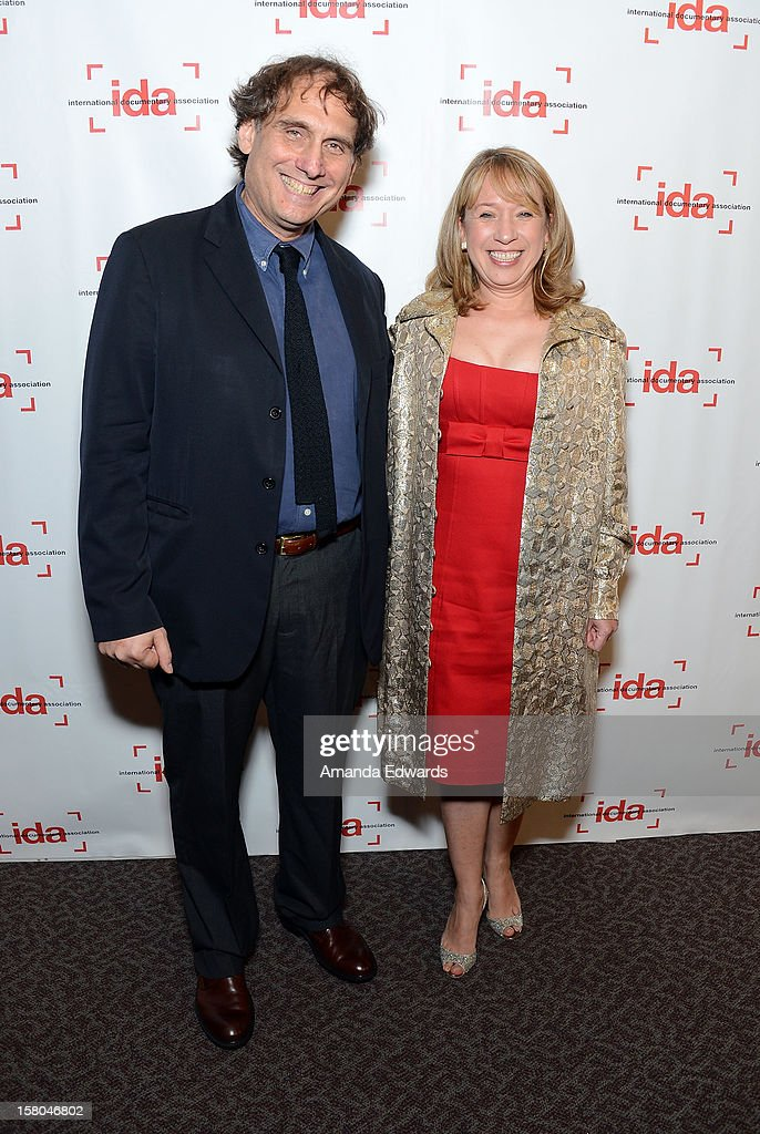 Director Peter Getzels (L) and producer Wendy Thompson-Marquez arrive at the International Documentary Association's 2012 IDA Documentary Awards at The Directors Guild Of America on December 7, 2012 in Los Angeles, California.