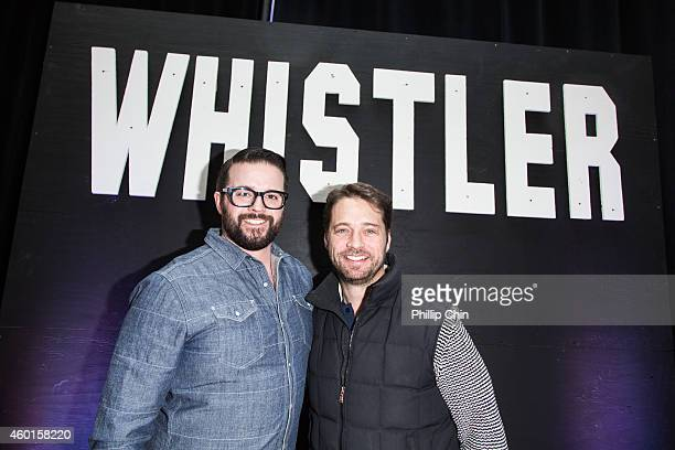 Director Peter Harvey and Whistler Film Festival Ambassador Jason Priestley attend the Whistler Film Festival on December 7 2014 in Whistler Canada