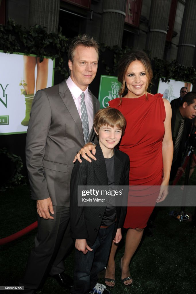 Director Peter Hedges, actors CJ Adams, and <a gi-track='captionPersonalityLinkClicked' href=/galleries/search?phrase=Jennifer+Garner&family=editorial&specificpeople=201813 ng-click='$event.stopPropagation()'>Jennifer Garner</a> arrive at the premiere of Walt Disney Pictures' 'The Odd Life of Timothy Green' at the El Capitan Theatre on August 6, 2012 in Hollywood, California.