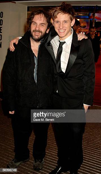 Director Peter Jackson and actor Jamie Bell arrive at the UK Premiere of 'King Kong' at the Odeon Leicester Square on December 8 2005 in London...