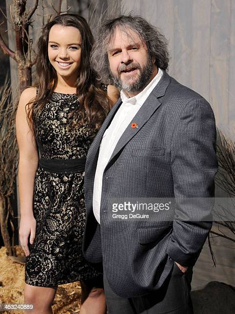 Director Peter Jackson and daughter Katie Jackson arrive at the Los Angeles premiere of 'The Hobbit The Desolation Of Smaug' at TCL Chinese Theatre...