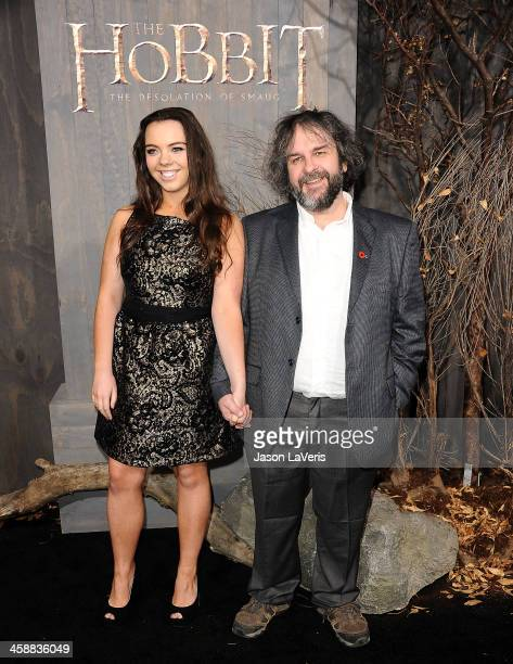 Director Peter Jackson and daughter Katie Jackson attend the premiere of 'The Hobbit The Desolation Of Smaug' at TCL Chinese Theatre on December 2...