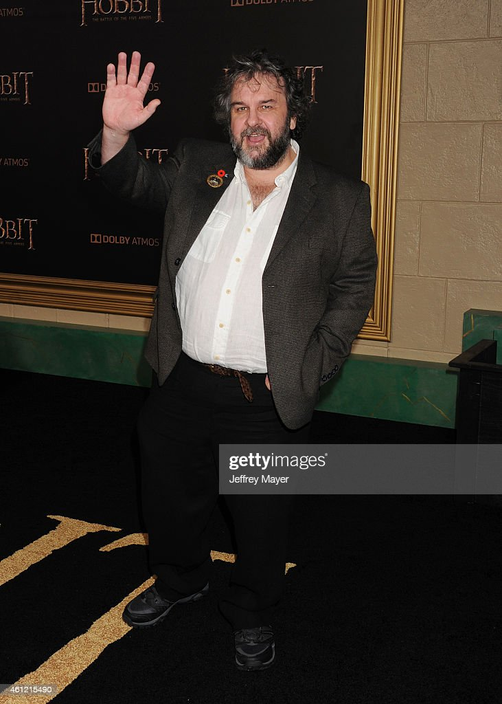 Director Peter Jackson arrives at the 'The Hobbit The Battle Of The Five Armies' at Dolby Theatre on December 9 2014 in Hollywood California