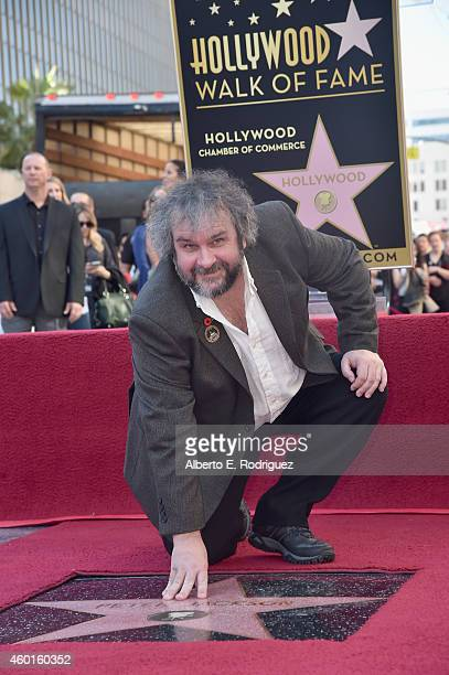 Director Peter Jackson attends a ceremony honoring him with the 2538th Star on The Hollywood Walk of Fame on December 8 2014 in Hollywood California