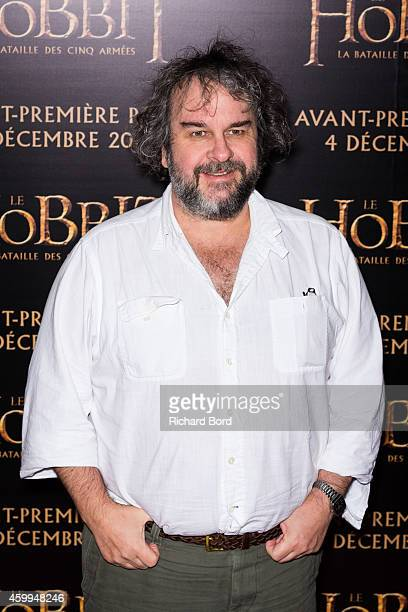 Director Peter Jackson attends 'The Hobbit The Battle Of The Five Armies' Paris Premiere at Le Grand Rex on December 4 2014 in Paris France