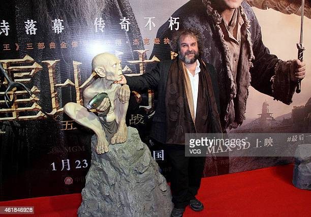 Director Peter Jackson attends 'The Hobbit The Battle of the Five Armies' Beijing Conference on January 20 2015 in Beijing China