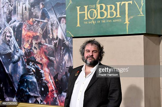 Director Peter Jackson attends the premiere of New Line Cinema MGM Pictures And Warner Bros Pictures' 'The Hobbit The Battle Of The Five Armies' at...