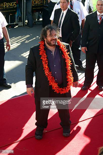 Director Peter Jackson attends the World Premiere of 'Lord of the Rings Return of the King' at the Embassy Theatre December 1 2003 in Wellington New...