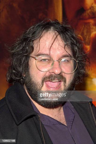Director Peter Jackson during The Lord of the Rings The Two Towers Premiere at Ziegfeld Theatre in New York New York United States