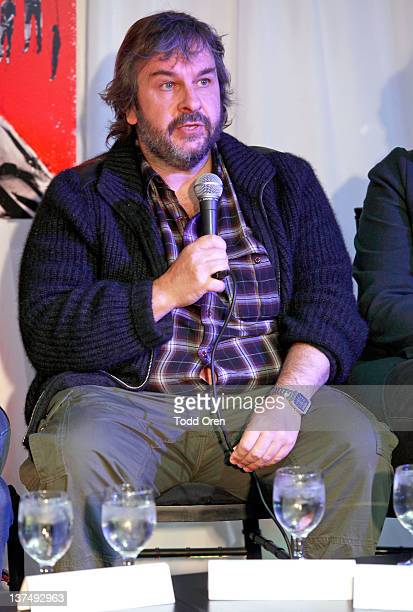 Director Peter Jackson speaks at the 'West Of Memphis' Press Conference at Blue Iguana on January 21 2012 in Park City Utah