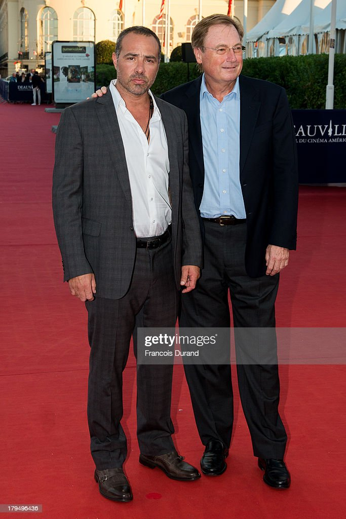 Director Peter Landesman and producer Guy East (R) arrive at the premiere of the film 'Parkland' during the 39th Deauville American Film Festival on September 4, 2013 in Deauville, France.