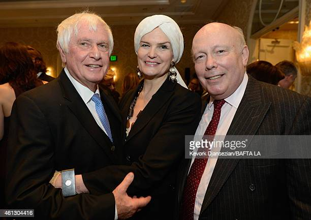 Director Peter Medak Lady Emma Kitchener and writer/producer Julian Fellowes attend the BAFTA Los Angeles Tea Party at The Four Seasons Hotel Los...