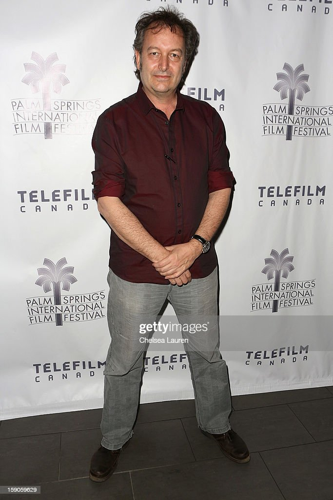 Director Peter Mettler arrives at the Canadian film party at the 24th annual Palm Springs International Film Festival on January 6, 2013 in Palm Springs, California.