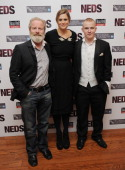 Director Peter Mullan actress Marianna Palka and actor Conor McCarron attend the 'NEDS' premiere during the 54th BFI London Film Festival at the Vue...