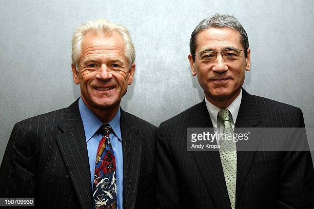 Director Peter Navarro and Gordon Chang attend the 'Death By China' screening at the Quad Cinema on August 24 2012 in New York City