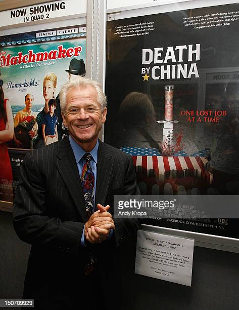 Director Peter Navarro attends the 'Death By China' screening at the Quad Cinema on August 24 2012 in New York City