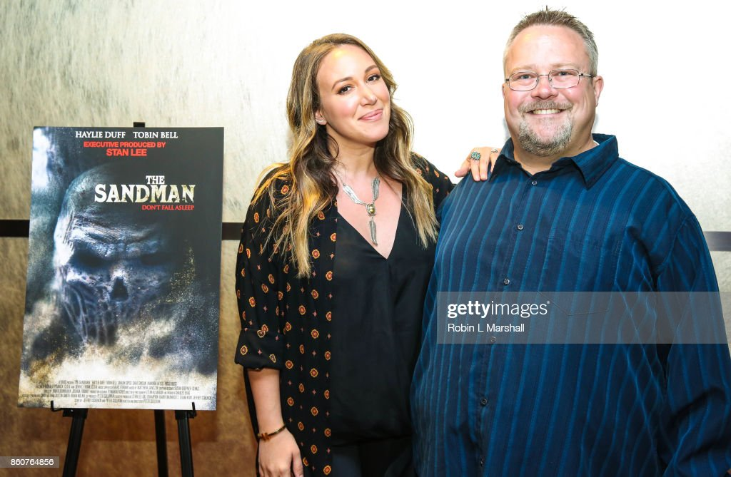 Director Peter Sullivan and cast member Haylie Duff attend the premiere of SyFy's 'The Sandman' movie screening at ArcLight Sherman Oaks on October 12, 2017 in Sherman Oaks, California.
