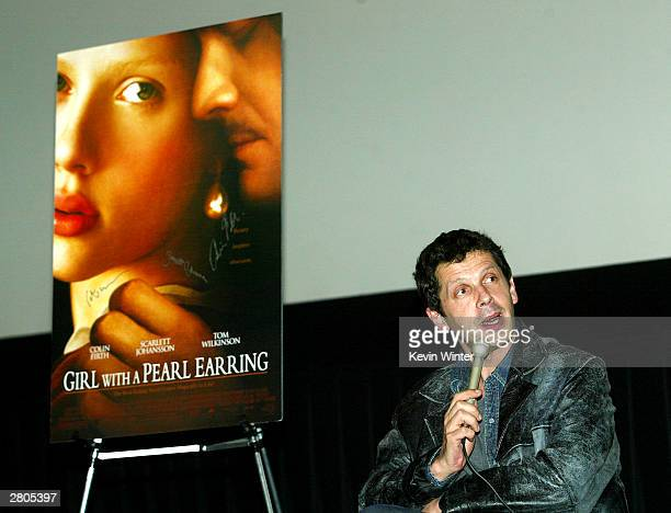 Director Peter Webber speaks at Variety's Screening Series 'Girl With A Pearl Earring' at the Pacific Galleria Theater on December 11 2003 in Los...
