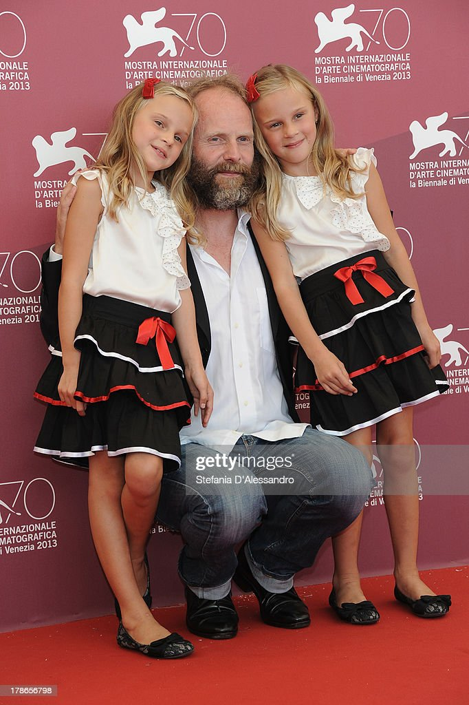 Director Philip Gröning and actresses Chiara and Pia Kleemann attend 'Die Frau des Polizisten' Photocall during The 70th Venice International Film Festival at Palazzo del Casino on August 30, 2013 in Venice, Italy.
