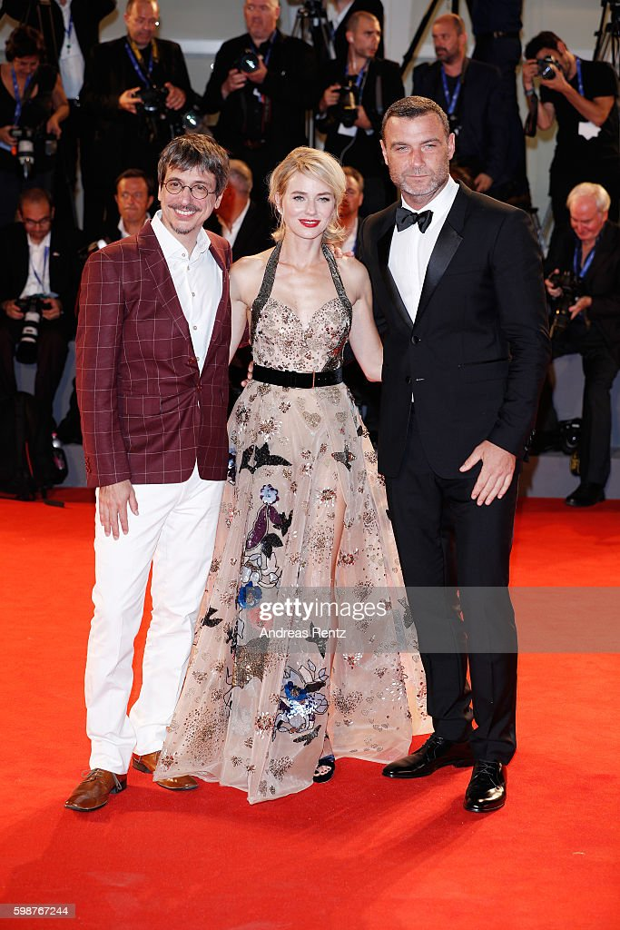 Director Philippe Falardeau, Naomi Watts and Liev Schreiber attend the premiere of 'The Bleeder' during the 73rd Venice Film Festival at Sala Grande on September 2, 2016 in Venice, Italy.