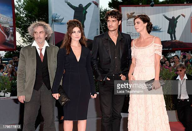 Director Philippe Garrel Actors Esther Garrel Louis Garrel and Anna Mouglalis attend 'La Jalousie' Premiere during the 70th Venice International Film...