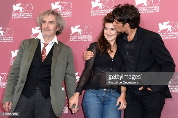Director Philippe Garrel and actors Esther Garrel and Louis Garrel attend the 'Jealousy' Photocall during the 70th Venice International Film Festival...